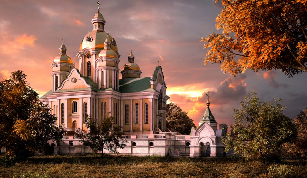 3D visualization of Church