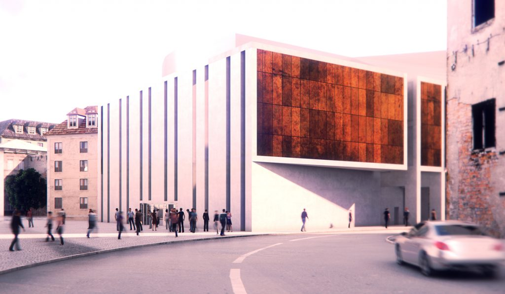 Exterior rendering Cinema Hall