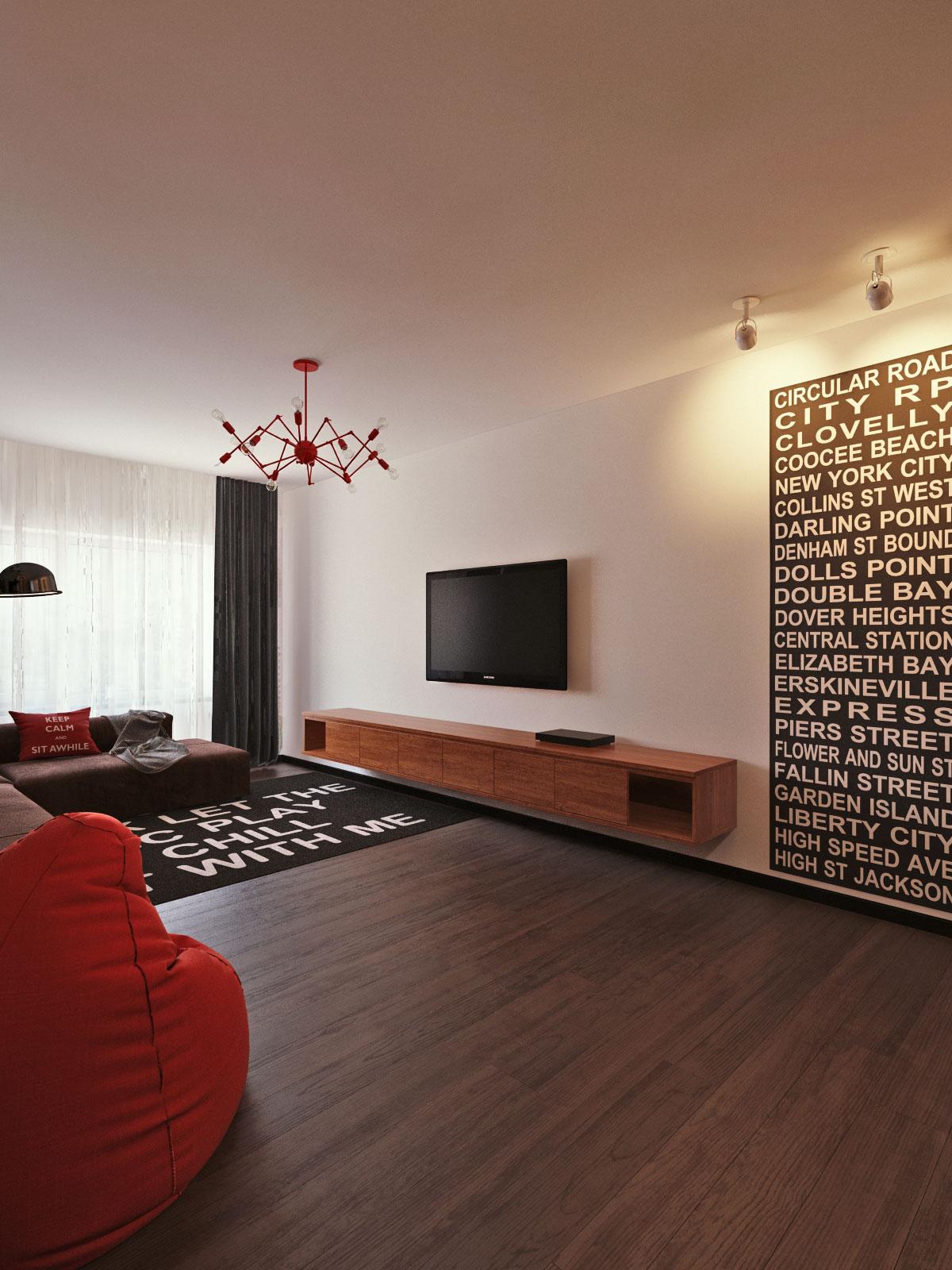 Loft interior design visualization