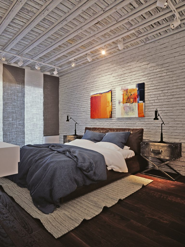 Loft interior design visualization
