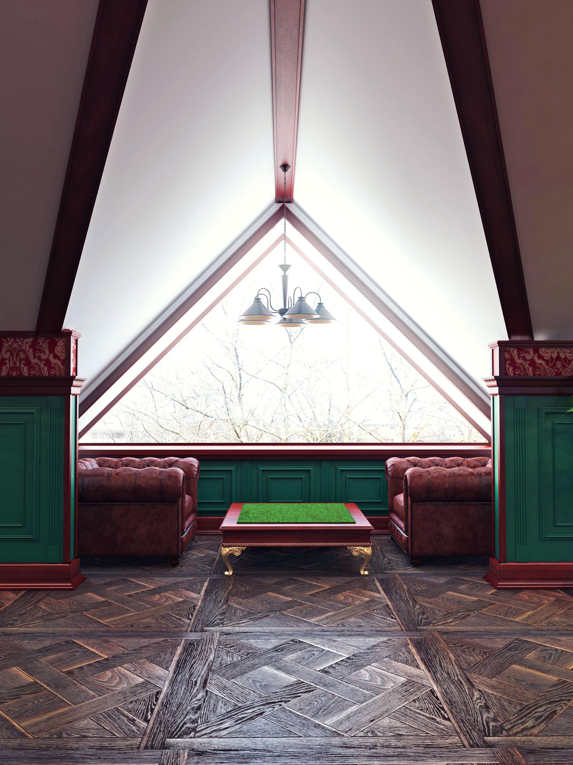 Classic style Luxury Villa Billiard Room