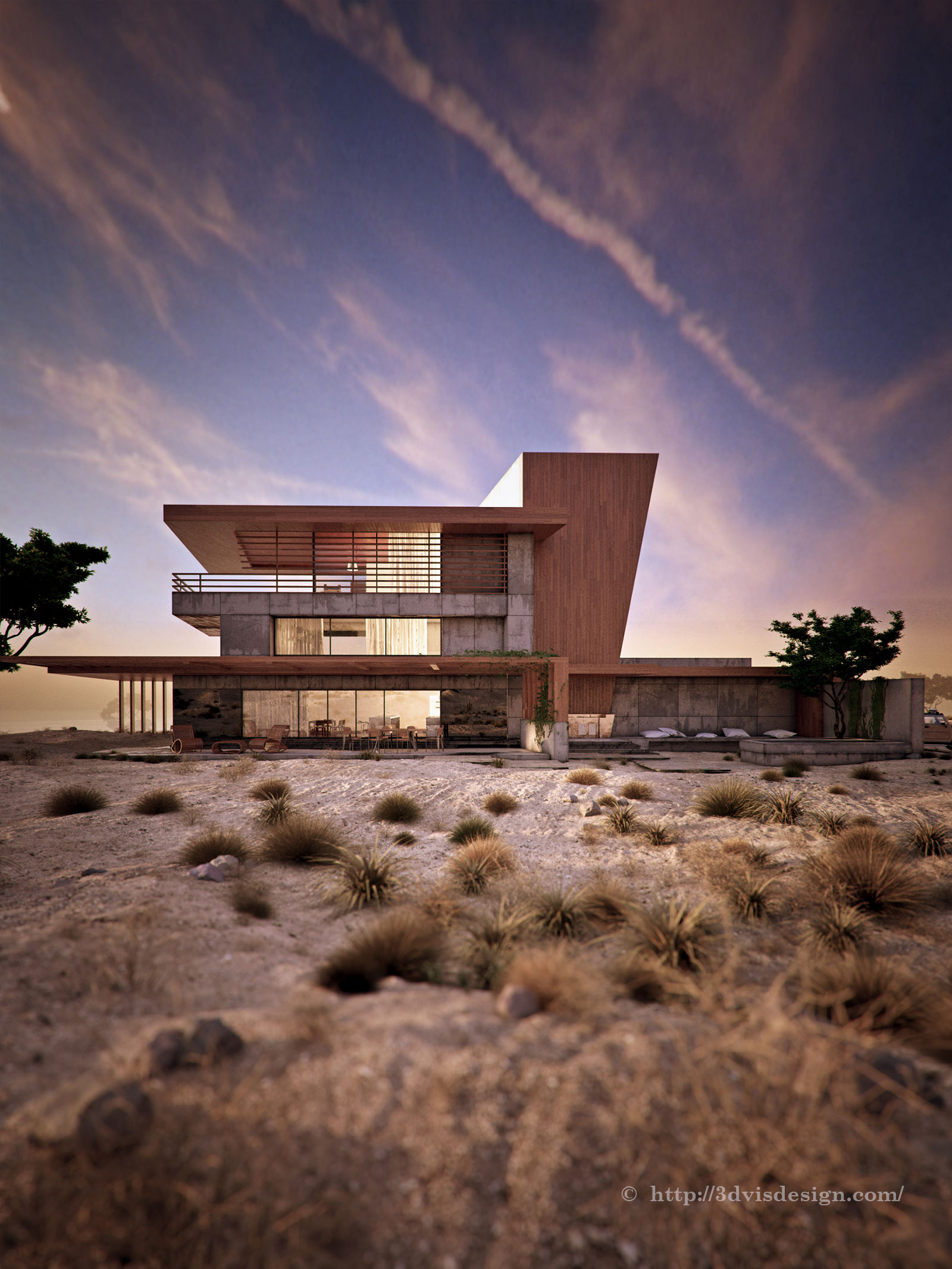 Architectural rendering exterior