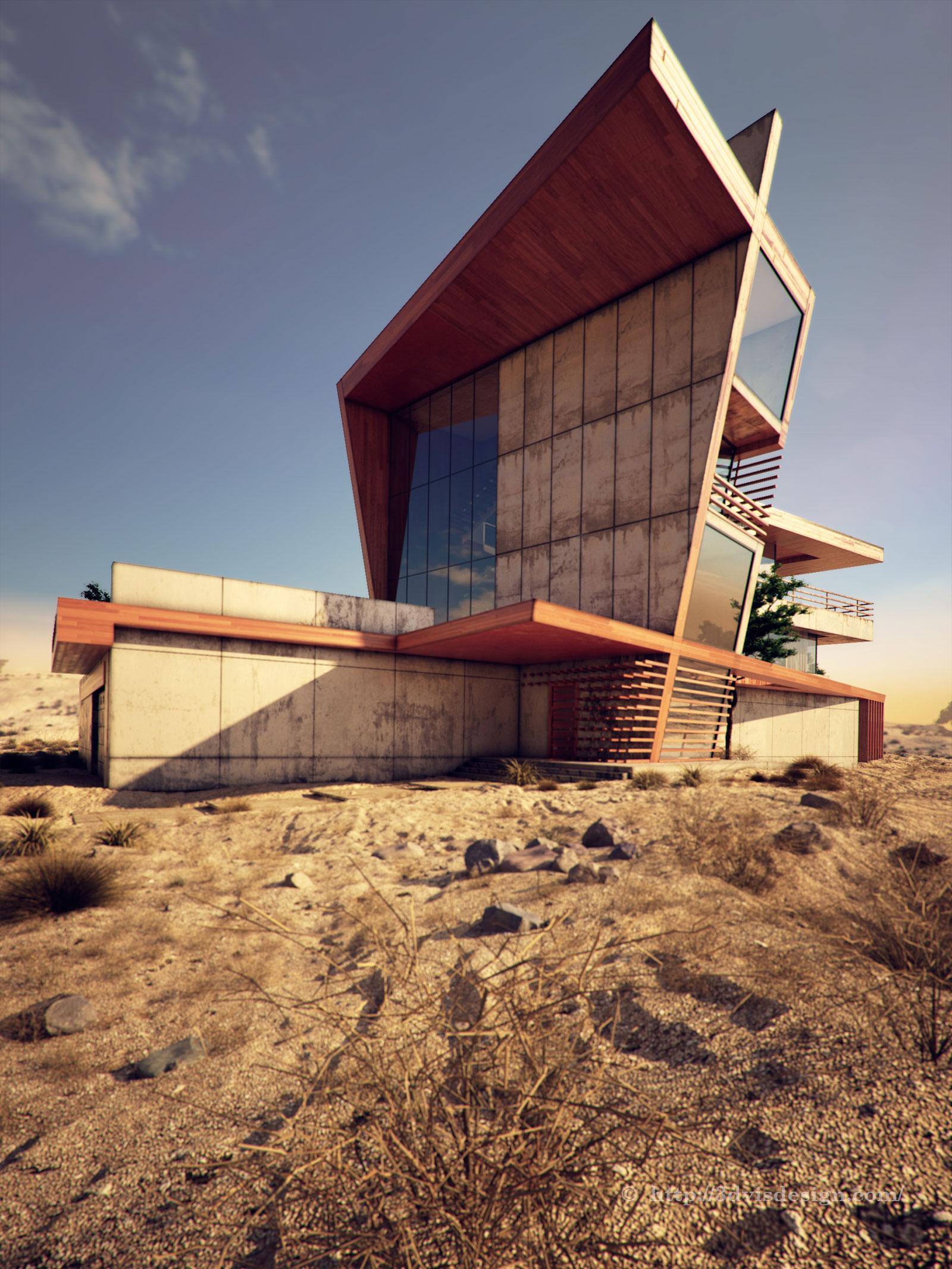 Exterior: Architectural Rendering Exterior / Desert Rose