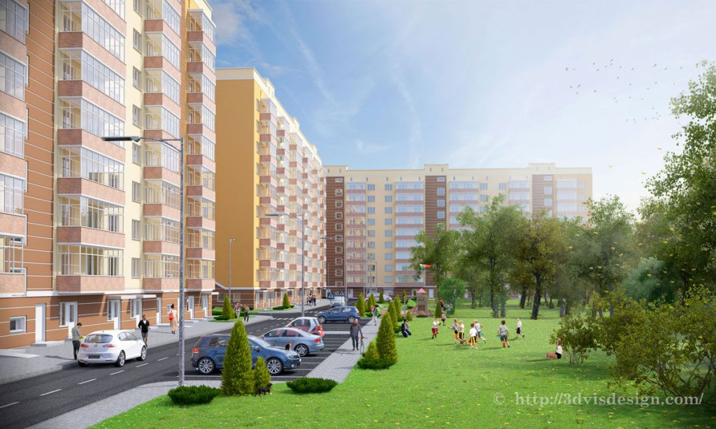 Condominium Architectural Rendering