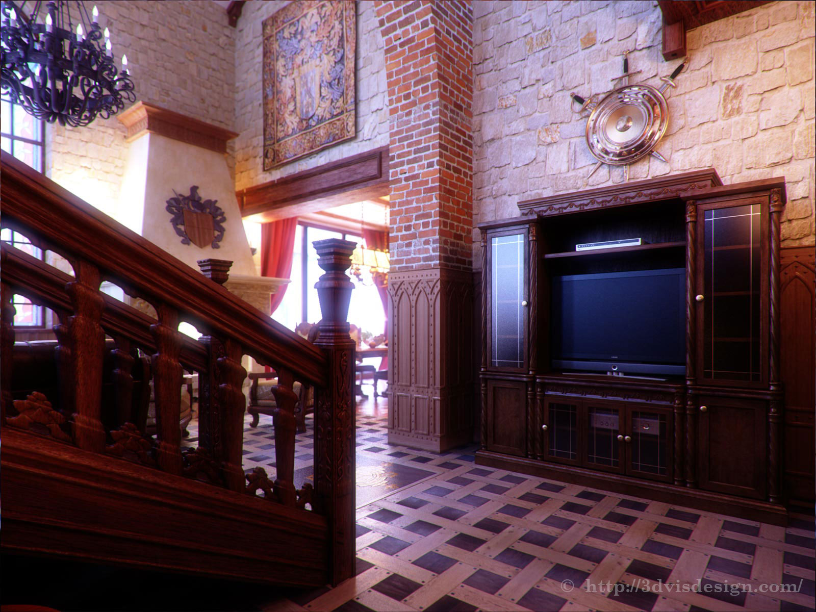 Interior rendering / Private Residence