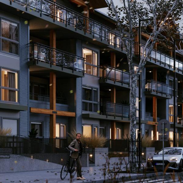 exterior rendering dusk light