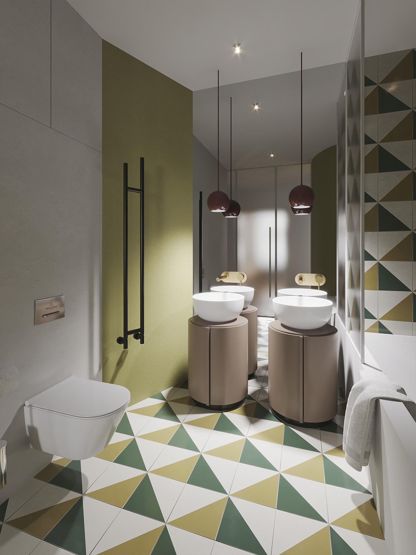 Restroom rendering